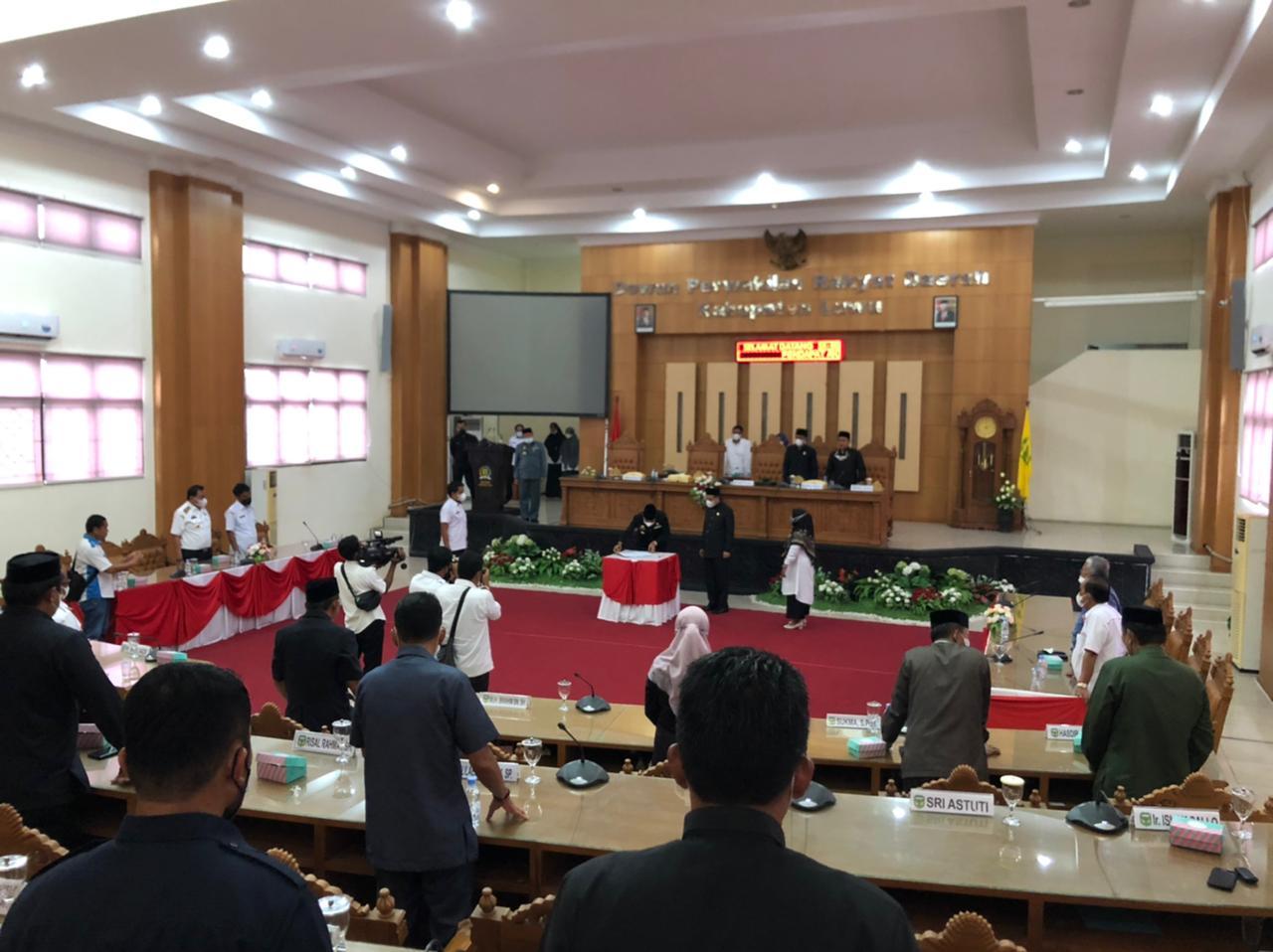 Rapat Paripurna Persetujuan Bersama Terhadap Perubahan APBD Kabupaten Luwu TA. 2021